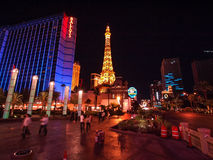 Walking in Las Vegas. City streets. Commercial and private build Royalty Free Stock Photo
