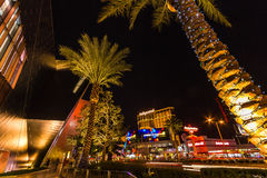 Walking on the Las Vegas strip at night royalty free stock photography