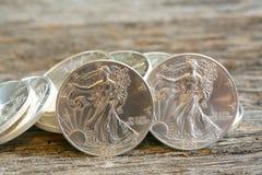 Walking Liberty Silver Dollars Royalty Free Stock Images
