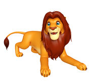 Walking Lion cartoon character Stock Images