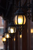 Walking in the London afternoon under lamplight, Royalty Free Stock Photography
