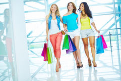 Walking in the mall Royalty Free Stock Image