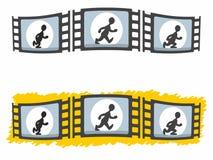 Walking Man Animation in Three Film Fames Stock Image