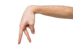 Walking man fingers isolated on white Stock Photos