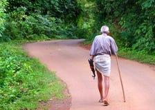 Walking man Stock Photo