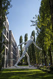 Walking Man sculpture in Munich, Germany, 2015 Stock Photo