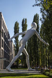 Walking Man sculpture in Munich, Germany, 2015 Royalty Free Stock Images