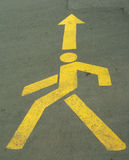 Walking man sign. Sign of a walking man with direction Stock Images
