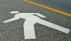Man Crossing Road Sign Stock Images