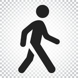 Walking man vector icon. People walk sign illustration. Business stock illustration