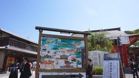 Walking Map of Fushimi Inari Shrine temple stock video footage