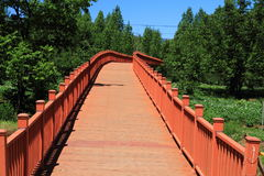Walking Marriages Bridge In Lugu Lake , China Royalty Free Stock Photos