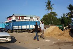 Walking in Mombasa. Royalty Free Stock Image