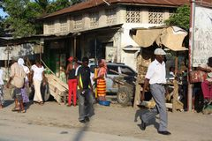 Walking. Mombasa. Royalty Free Stock Images
