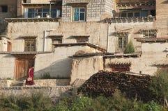 Walking monk Royalty Free Stock Photo