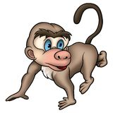 Walking monkey Stock Image