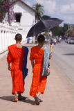 Walking monks Stock Photos