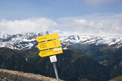 Walking at Mount Schareck, Carinthia, Austria Royalty Free Stock Photography