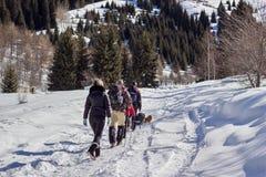 Walking mountains Stock Image