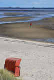 Walking on Mud Flats royalty free stock images