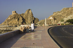 Walking on Muscat Promenade Stock Images