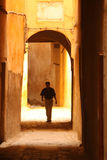 Walking through narrow streets in the medina Royalty Free Stock Images
