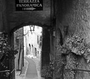Todi june 2016. walking through the narrow streets of Todi royalty free stock image