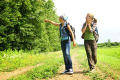 Walking in nature Stock Photography