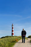 Walking near the lighthouse Royalty Free Stock Images
