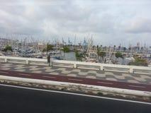 Walking near a Port in Las Palmas Royalty Free Stock Photo