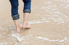Walking nearly beach Royalty Free Stock Photo
