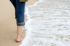 Walking nearly beach Stock Image