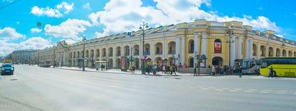 Walking in Nevsky Prospekt Stock Photo