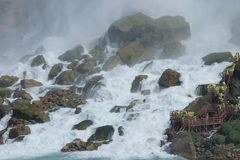 Walking Niagra Falls. Adventure to one of the World's Wonders Royalty Free Stock Image