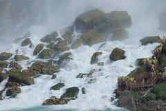 Walking Niagra Falls Royalty Free Stock Image