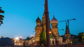 Walking at night in Moscow stock video footage