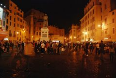 Walking at night Rome Stock Image