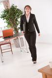 Walking in the office Royalty Free Stock Photos