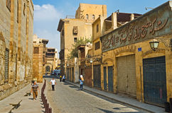 Walking in old Cairo Stock Photos