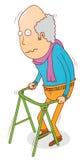 Walking old man Royalty Free Stock Image