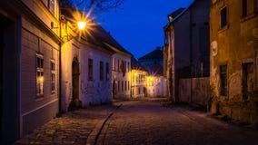 Walking through old town at night Stock Images