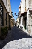 Walking in the Old Town of Rethymno Royalty Free Stock Photos