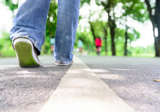Free Walking On Asphalt Path Royalty Free Stock Images - 44526559