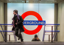 Walking out of the the underground Stock Images