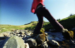 Walking outdoors Royalty Free Stock Images