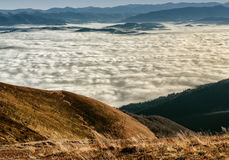 Walking over the clouds Royalty Free Stock Image