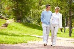 Walking in park Stock Image