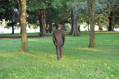 Walking in the park. Stock Images