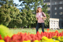 Walking in the park. Royalty Free Stock Photography