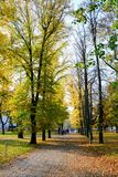 Walking in the park of Cathedral square in Vilnius city Royalty Free Stock Images
